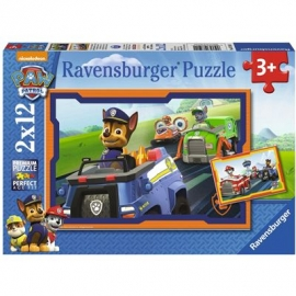 Ravensburger Puzzle - Paw Patrol - Paw Patrol im Einsatz, 2x12 Teile