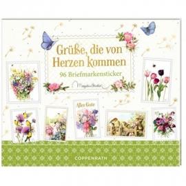 Coppenrath Verlag - Stickerbuch - Grüße, die von Herzen kommen (Bastin)