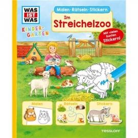 Tessloff - Was ist Was Kindergarten - Malen, Rätseln, Stickern - Im Streichelzoo