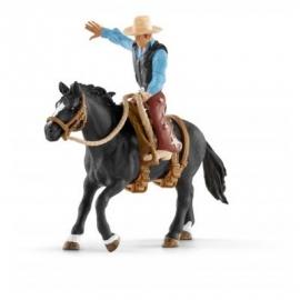 Schleich - World of Nature - Farm World - Saddle bronc riding mit Cowboy