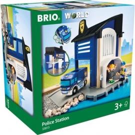BRIO Bahn - Polizeistation mit Einsatzfahrzeug