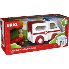 BRIO - Toddler Push Alongs - Krankenwagen mit Licht und Sound
