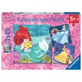Ravensburger Puzzle - Abenteuer der Prinzessinnen, 3 x 49 Teile