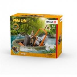 Schleich - World of Nature - Wild Life - Dschungel - Schlauchboot mit Ranger