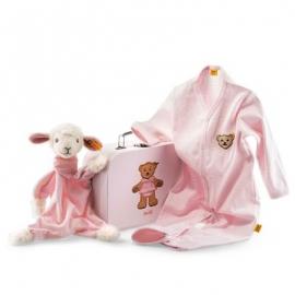Steiff - Babywelt - Schmusetücher - Geschenkset Träum-süß-Lamm Schmusetuch, rosa, 24cm