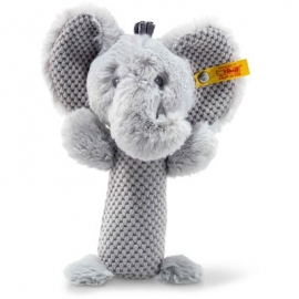 Steiff - Soft Cuddly Friends Ellie Elefant Rassel, 15 cm