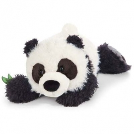 NICI - Wild Friends Kuscheltier Panda Yaa Boo liegend, 20 cm