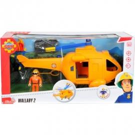 Simba - Feuerwehrmann Sam - Sam Hubschrauber Wallaby II mit Figur
