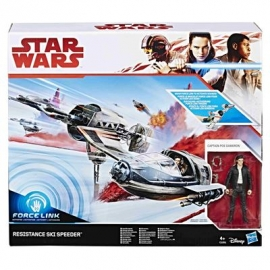 Hasbro - Star Wars™ Episode 8 Forcelink Ski Speeder mit 3.75&quot -  Poe Dameron Figur