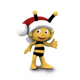BIM Maja mit Weihnachtsmütze