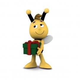 BIM Willi mit Geschenk