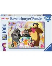 Ravensburger Puzzle - Mascha und der Bär - Malen mit Mascha, 100 XXL-Teile