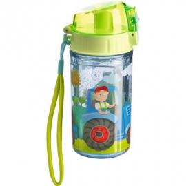 HABA® - Glitzertrinkflasche Traktor