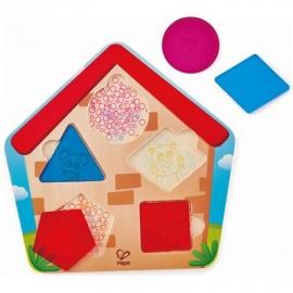 Hape - Haus-Suchpuzzle, 6 Teile