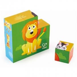 Hape - Blockpuzzle Dschungel, 9 Teile