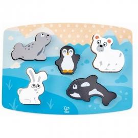 Hape - Fühlpuzzle Polartiere, 6 Teile