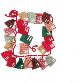 Käthe Kruse - Advent Calendar Bags with Numbers