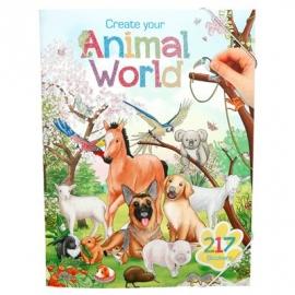 Depesche - Create Your Animal World Malbuch mit Stickern