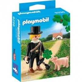 Playmobil® 9296 - City Life - Schornsteinfeger mit Glücksschweinchen und Kleeblatt.