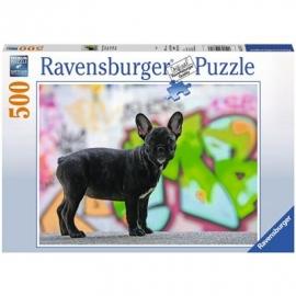 Ravensburger Puzzle - Französische Bulldogge, 500 Teile