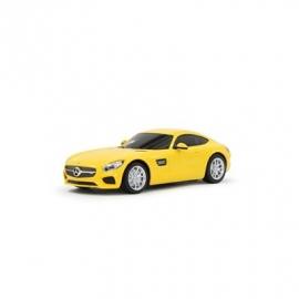 Jamara - Fahrzeug, Mercedes-Benz AMG GT 1:24, gelb, 27 MHz
