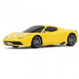 Jamara - Fahrzeug, Ferrari 458 Speciale A 1:24, gelb, 27 MHz