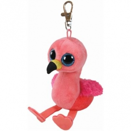 Ty Plüsch - Beanie Boos Glubschis Clip - Gilda, Flamingo 8.5cm