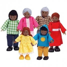Hape - Puppenfamilie - Dunkle Hautfarbe