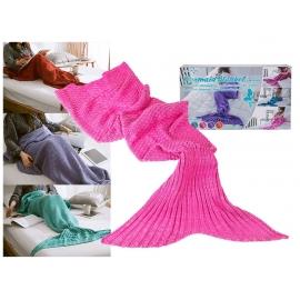 Meerjungfrauen-Decke pink 70 x 140 cm