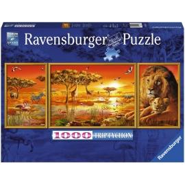 Ravensburger Puzzle - Triptychon - Afrikanische Impressionen, 1000 Teile