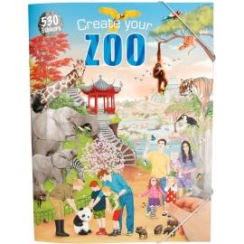 Depesche - Create your ZOO  Malbuch mit Stickern