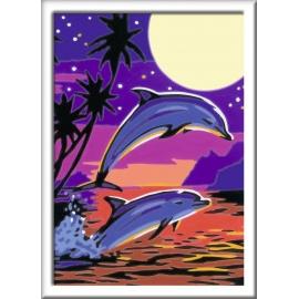 Ravensburger Spiel - Malen nach Zahlen Junior - Delfine