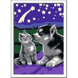 Ravensburger Spiel - Malen nach Zahlen Junior - Hund und Katze