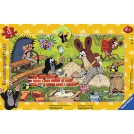 Ravensburger Puzzle - Der kleine Maulwurf und seine Freunde, 15 Teile