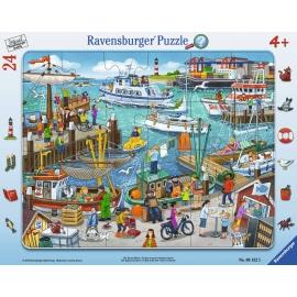 Ravensburger Puzzle - Ein Tag am Hafen, 24 Teile