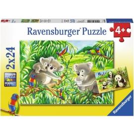 Ravensburger Puzzle - Süße Koalas und Pandas, 24 Teile