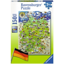 Ravensburger Puzzle - Meine Deutschlandkarte, 150 XXL-Teile