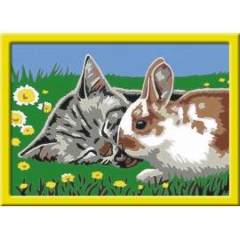 Ravensburger Spiel - Malen nach Zahlen Junior - Kätzchen und Häschen