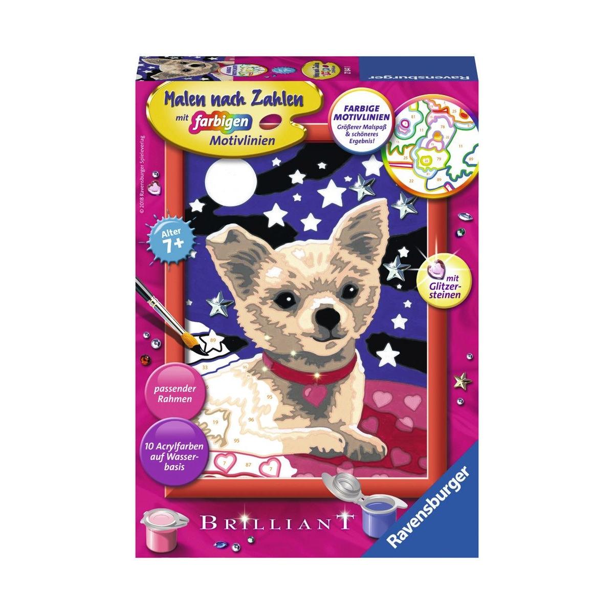 Ravensburger Spiel Malen Nach Zahlen Junior Lieber Chihuahua