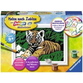 Ravensburger Spiel - Malen nach Zahlen mit farbigen Motivlinien - Süßer Tiger