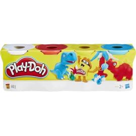 Hasbro - Play-Doh 4er Pack Grundfarben blau, gelb, rot, weiß