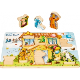 Holz-Puzzle In der Villa Siebenklein - D