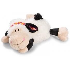 NICI - Jolly Mäh - Kuscheltier Schaf Jolly Malou liegend, 20 cm