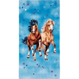 Zauberbadetuch Pferdefreunde (ca. 75 x 1