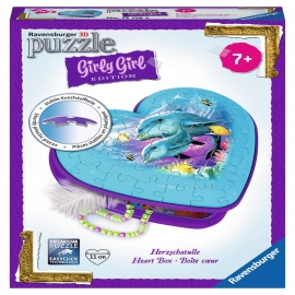 Ravensburger Puzzle - 3D Puzzles - Girly Girl Edition Herzform - Unterwasser Girls, 54 Teile