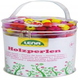 Lena - Holzperlen Tasche, pink