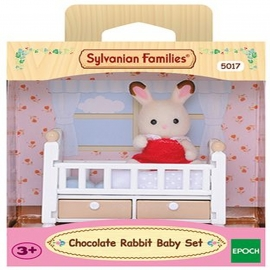 Sylvanian Families - Schokoladenhasen Baby mit Babybett