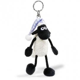 NICI - Shaun das Schaf - Schlüsselanhänger Shaun mit Schlafmütze, 10 cm