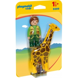 Playmobil® 9380 - 1.2.3. - Tierpfleger mit Giraffe