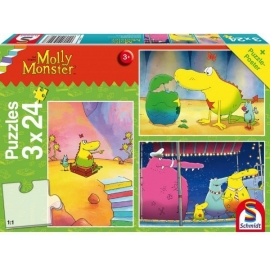 Schmidt Spiele - Molly Monster: Unterwegs mit Molly Monster, 24 Teile